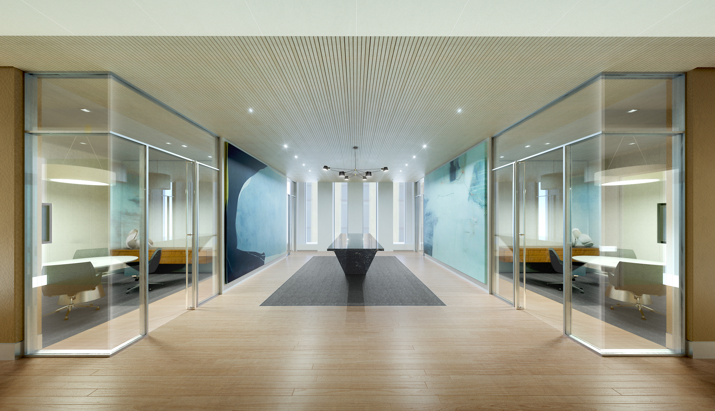 OFFICE BREAKOUT CONCEPT  New York City, New York | Client: HOK NYC