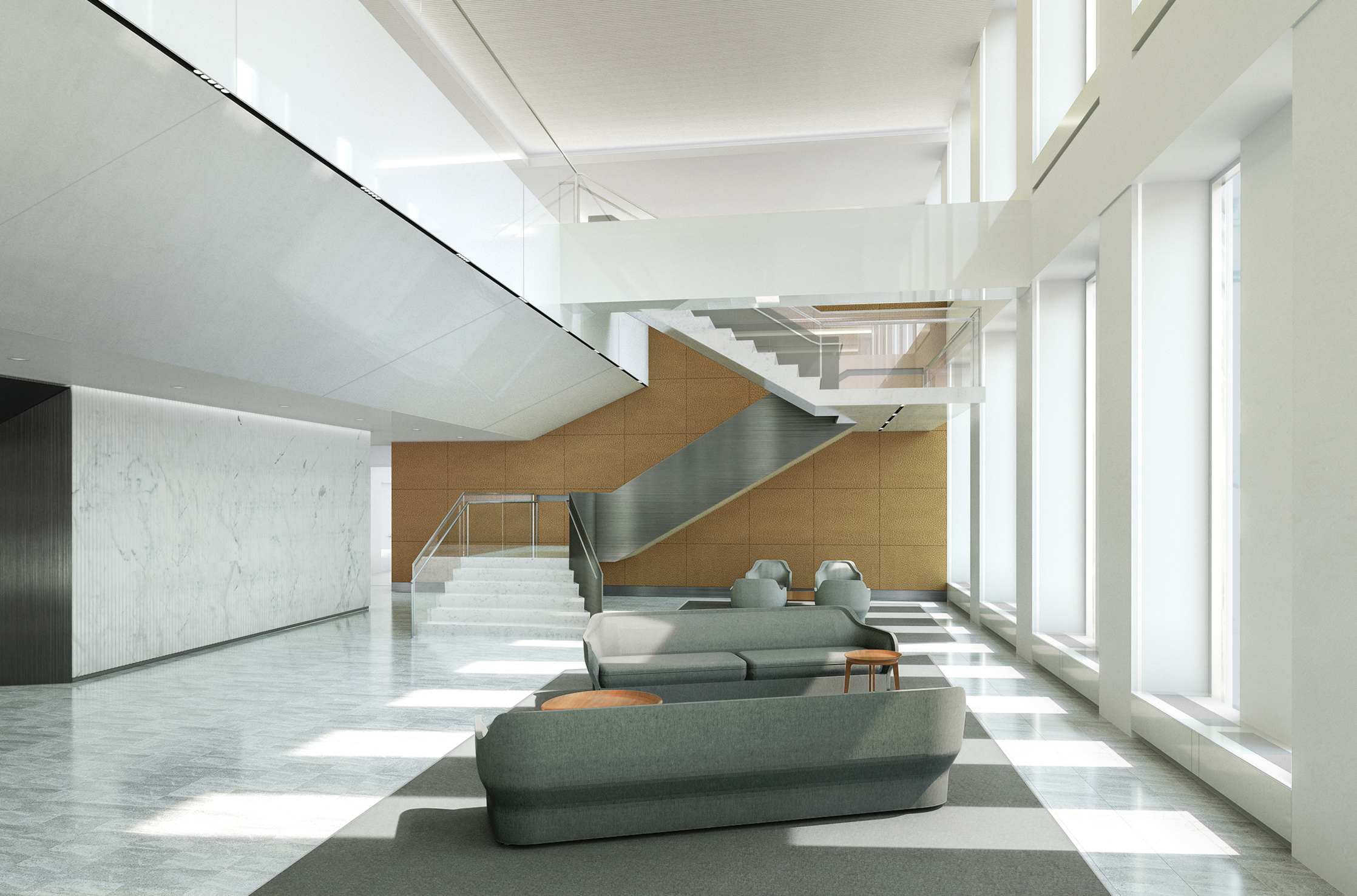OFFICE LOBBY CONCEPT   New York City, New York |   Client:  HOK NYC