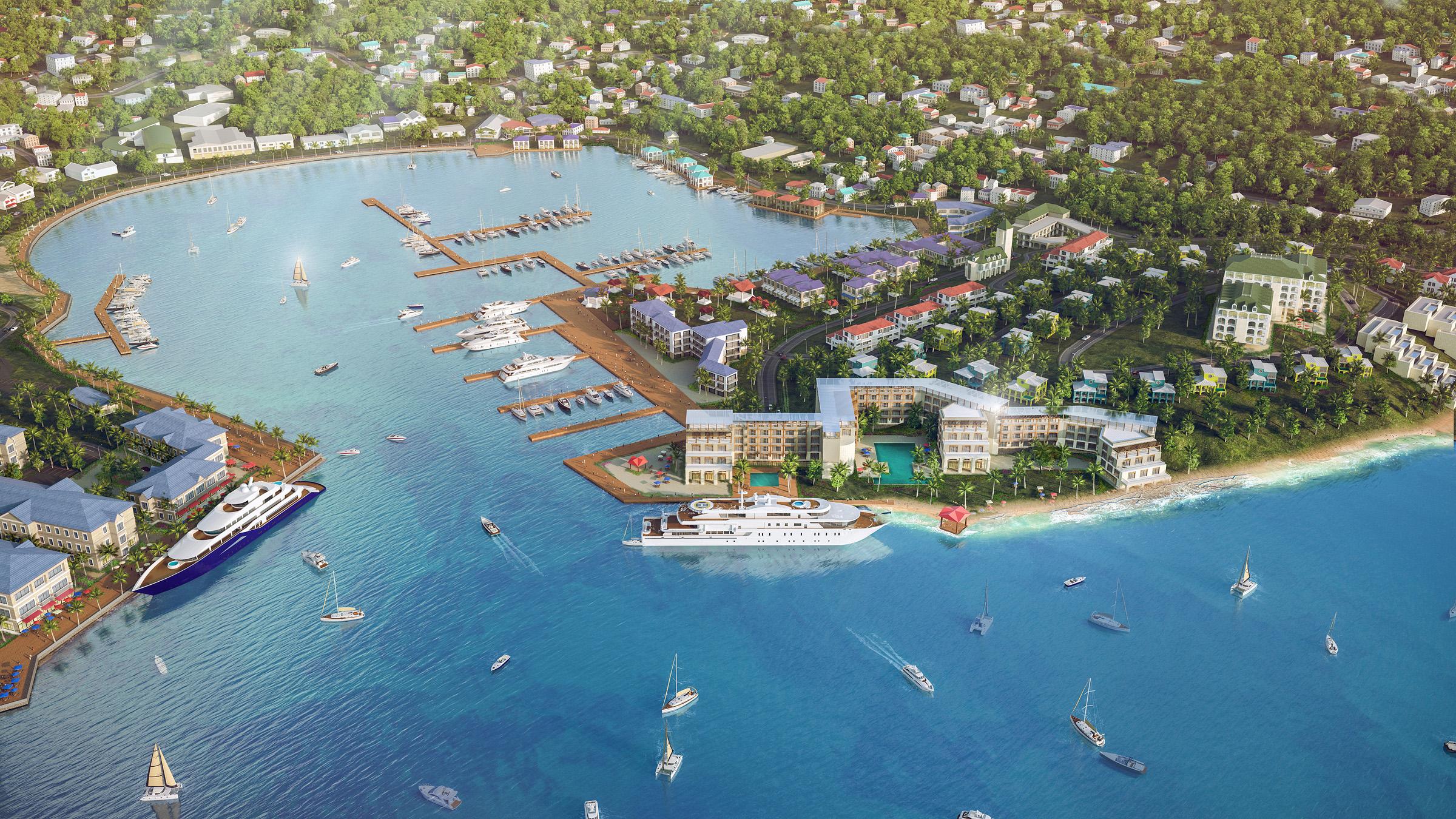 GRENADA CONCEPTUAL MASTER PLAN   St George's, Grenada |  Client: RM Strategies