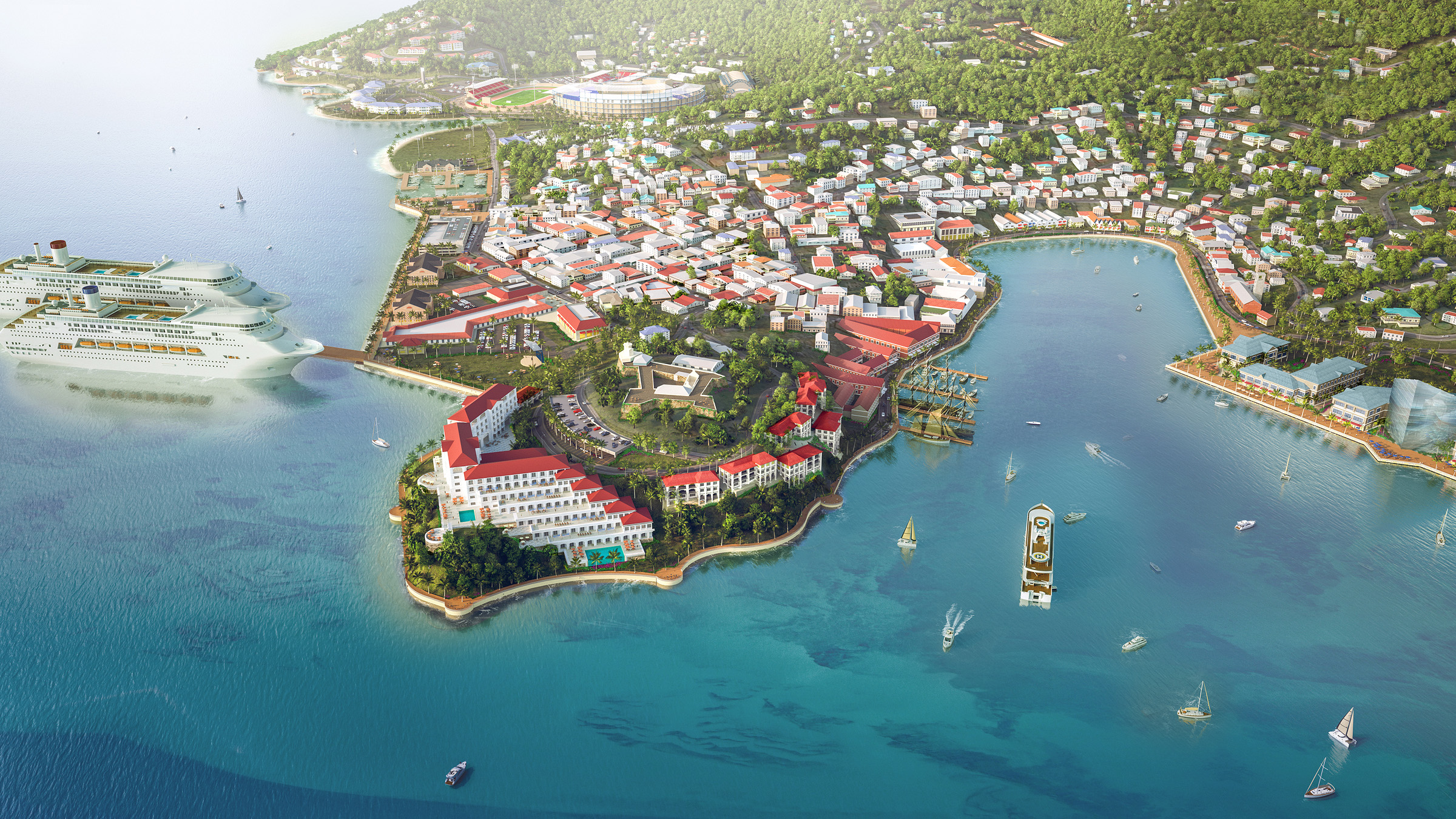 GRENADA CONCEPTUAL MASTER PLAN   St George's, Grenada |   Client:  RM Strategies