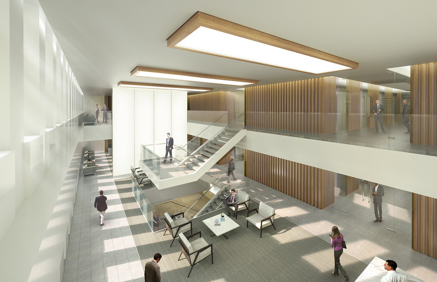 INTERIOR LOBBY CONCEPT   New York, NY |  Client: HYL Architecture