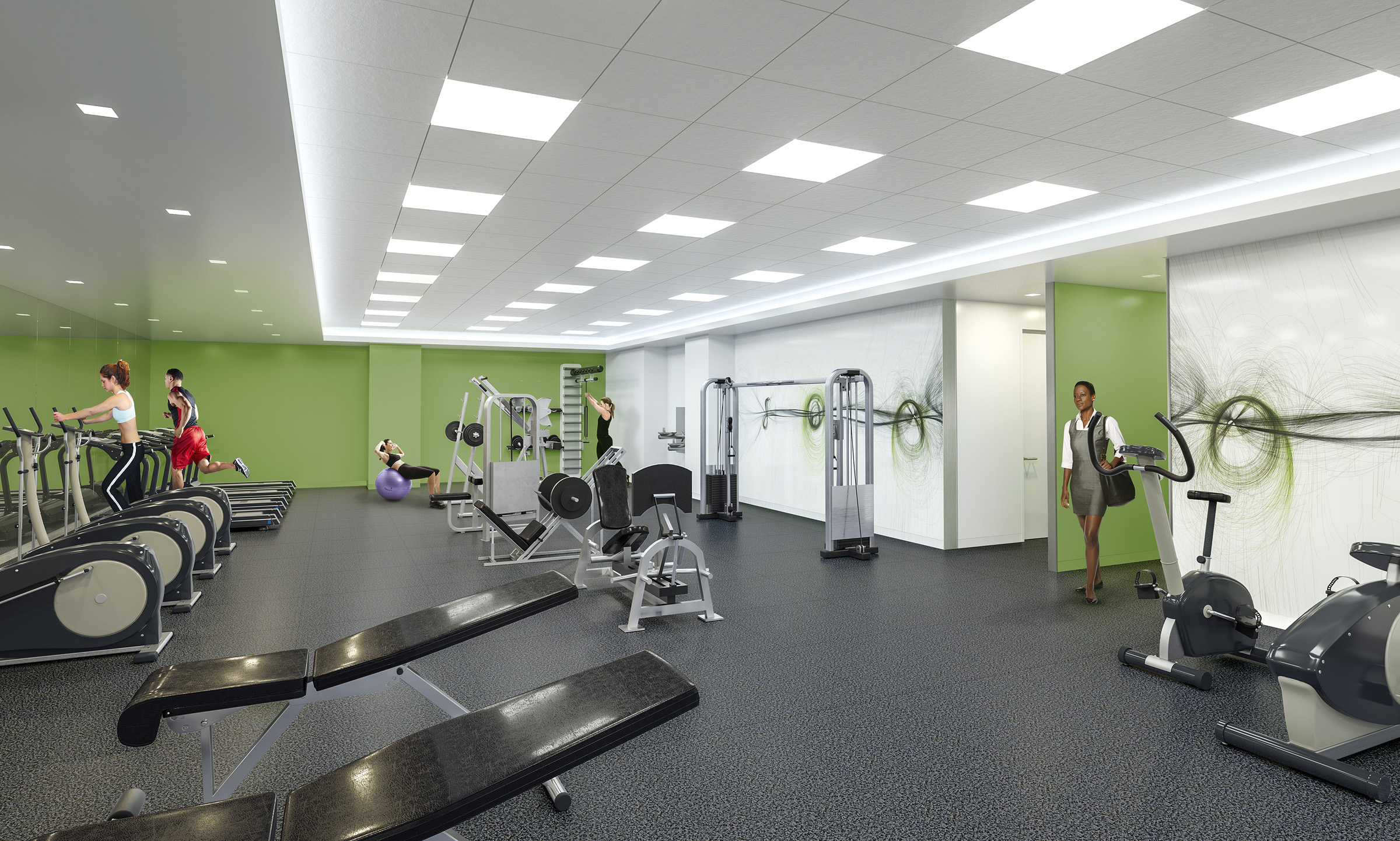 FITNESS CENTER   Fairfax, VA |   Client:  HYL Architecture