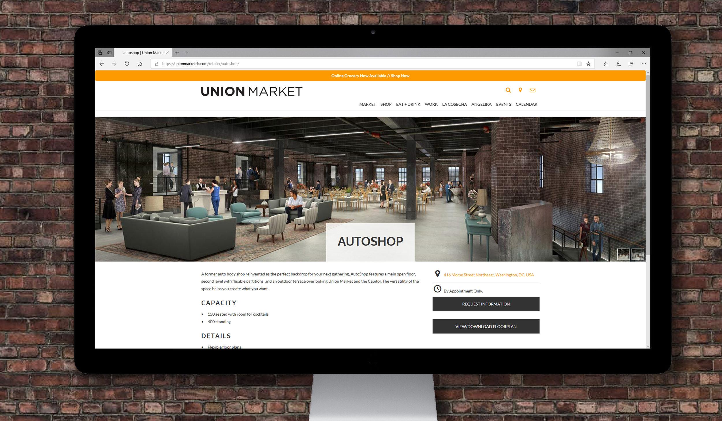 UNION MARKET AUTOSHOP   modeling, stills renderings, marketing   EXPLORE