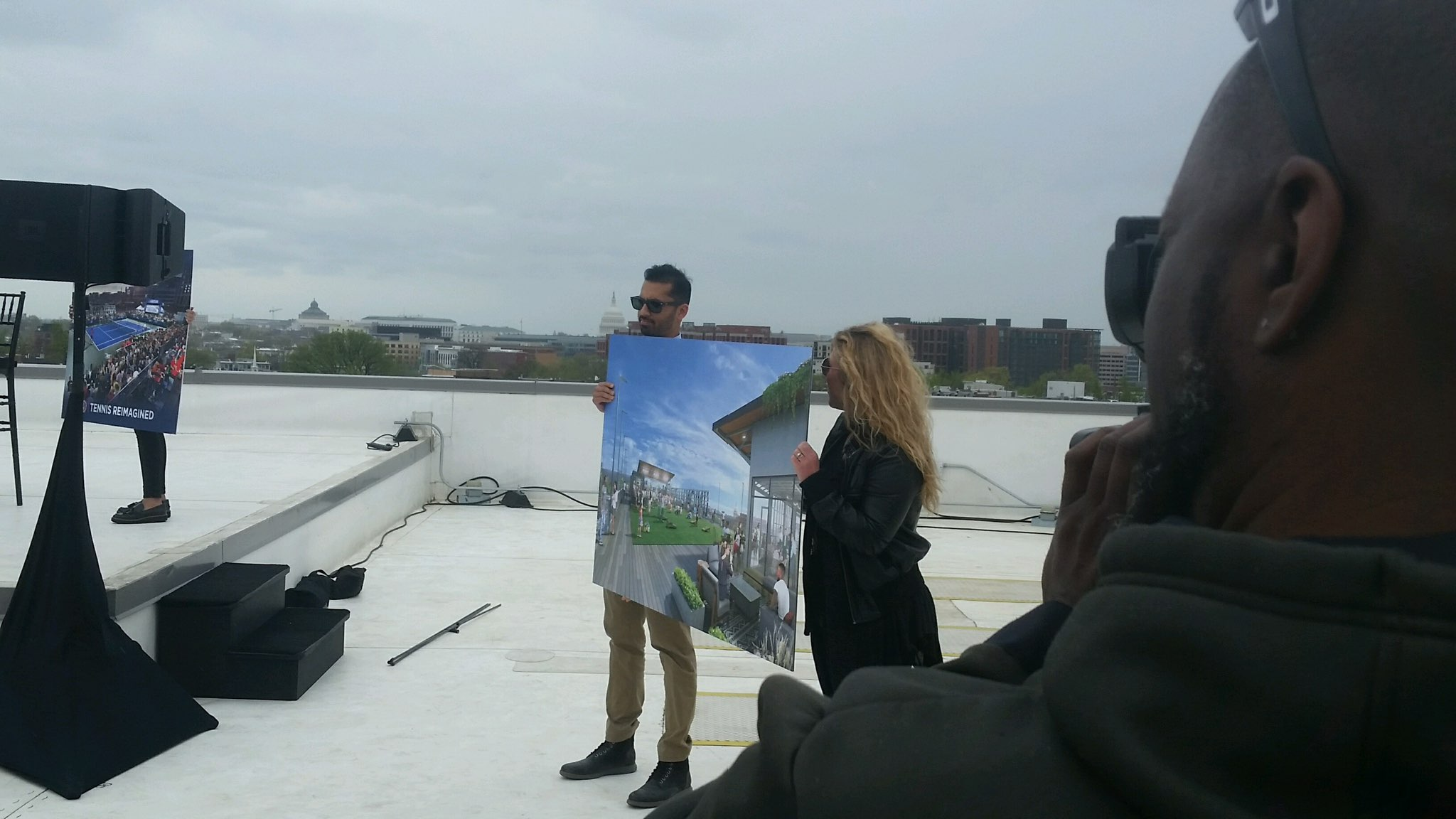 Formal announcement of popup court on the roof of Union Market