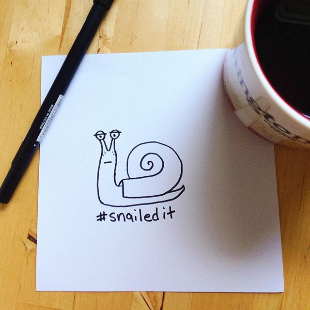 Been slow on the social media lately... Thanks for staying with me! 🐌#snailedit #doodles #ifandwhenworkshop