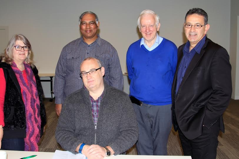 Lee McKenzie, Chris Roga, John Freeman (seated) Br John McMahon and Rob Tarraran