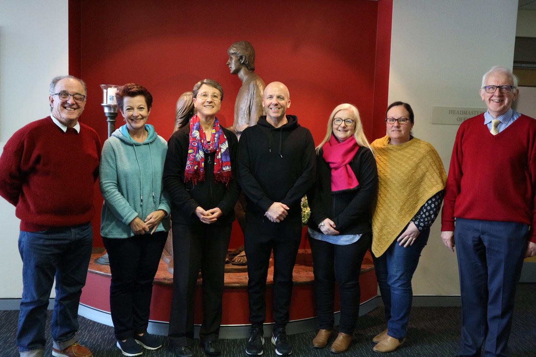 Brian Shaw, Megan Finnigan, Jennifer Elvery, Fintan Keane, Loretta McNaught, Leesa Callaughan and John McMahon at the Marist Educational Leadership Program in Canberra in August 2018