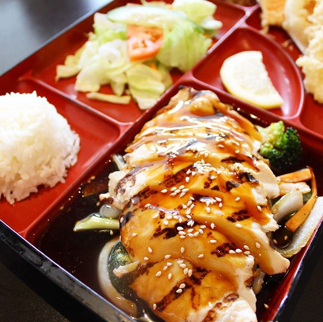 Fresh grilled chicken teriyaki for lunch? Yes please! 🙋🏻‍♀️
