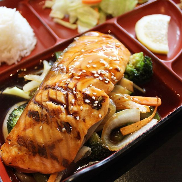 Salmon teriyaki? Yes please!