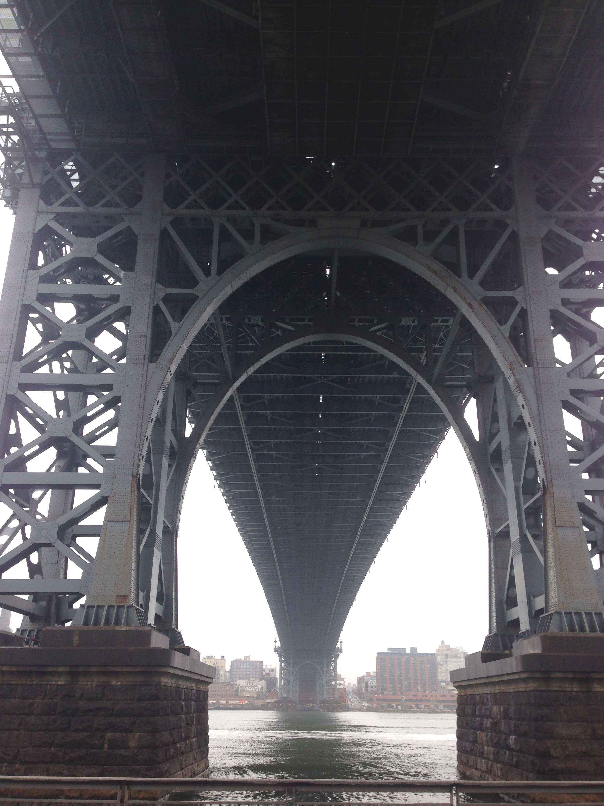 Underneath the Williamsburg Bridge.