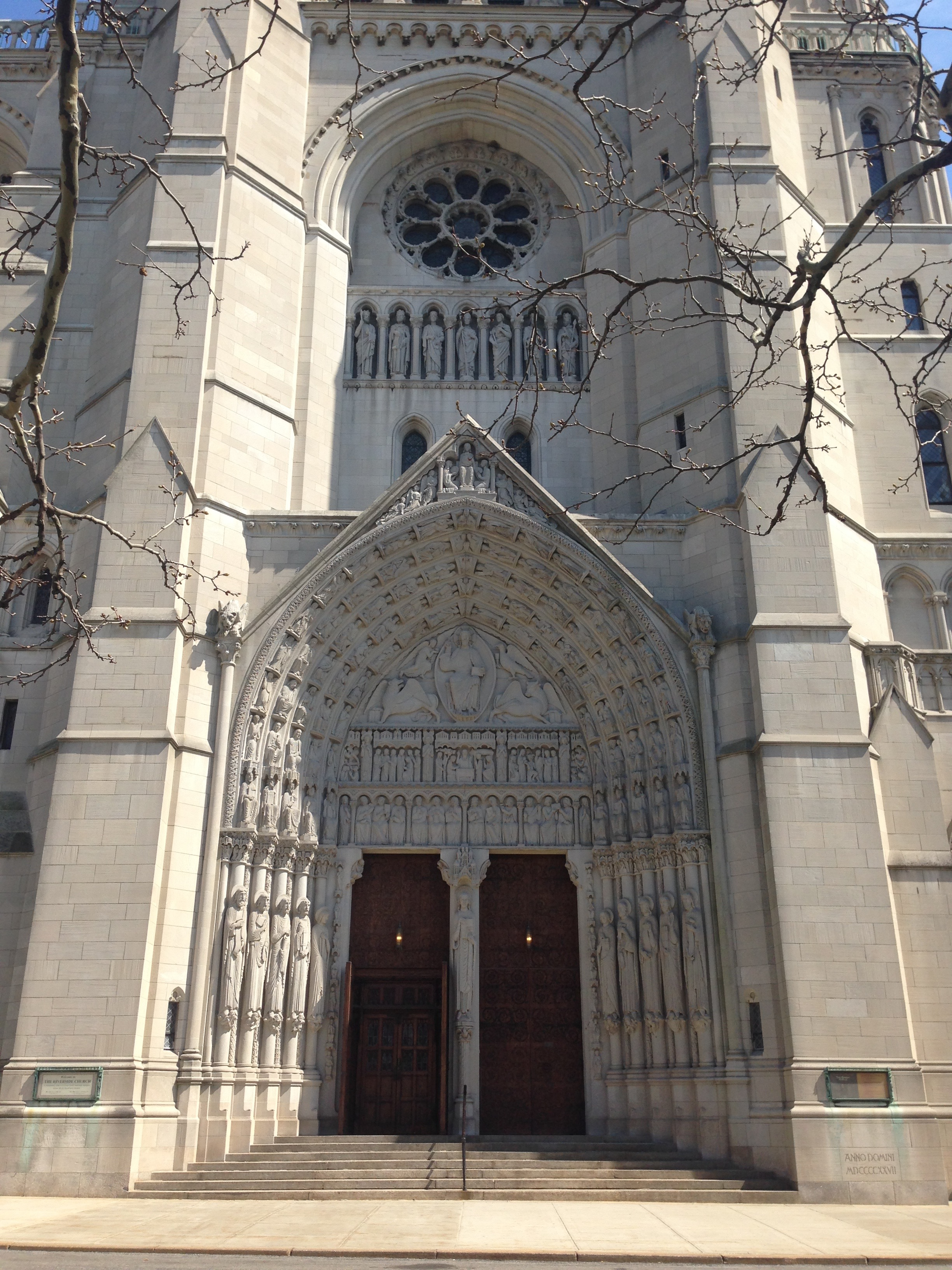 The beautiful Riverside Church.