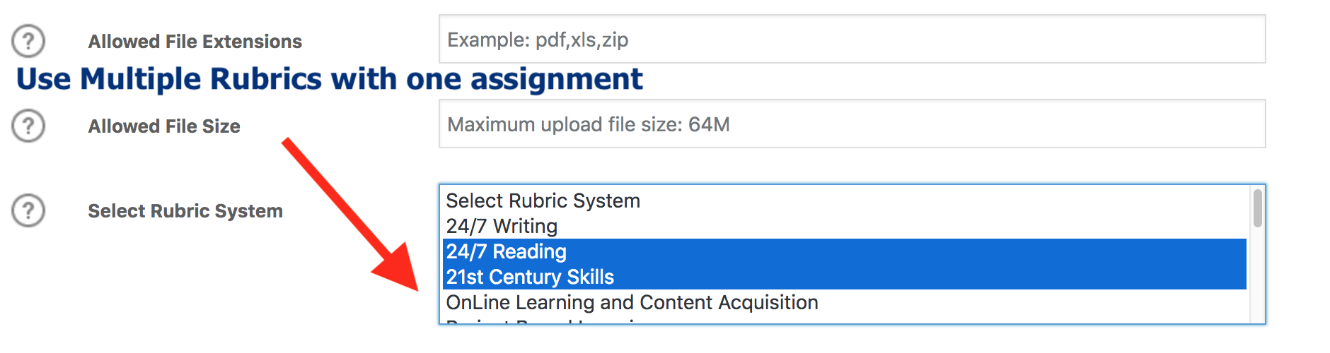 Use Multiple Rubrics with one assignment with LearnDash LMS and Wordpress.