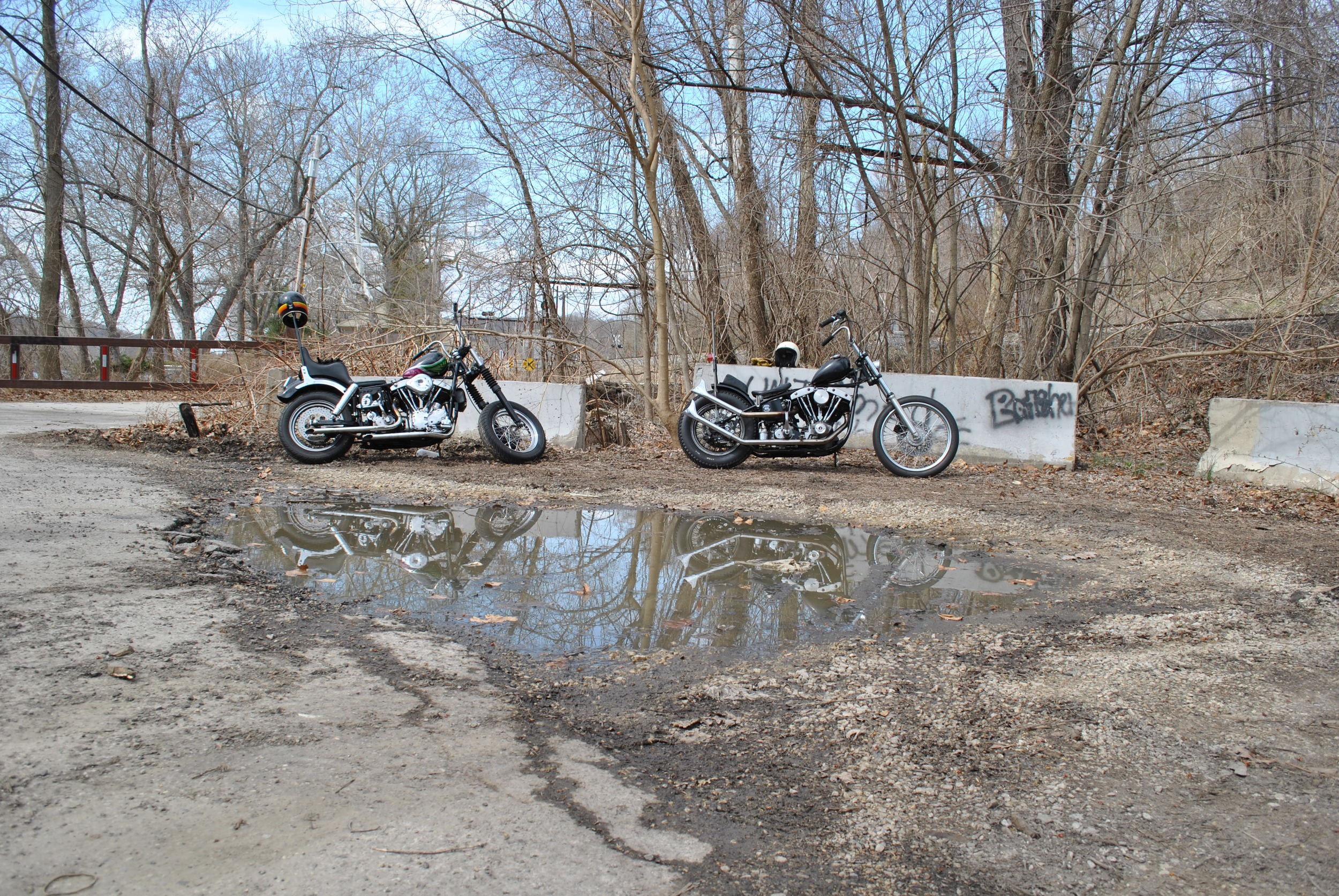 Justin's 1962 Pan-Shovel and Dan's 1974 Shovelhead