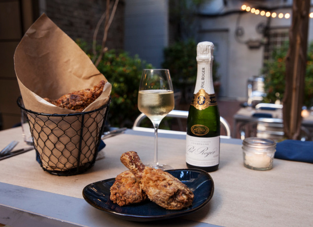 Fried Chicken & Champagne Bubbles Feast