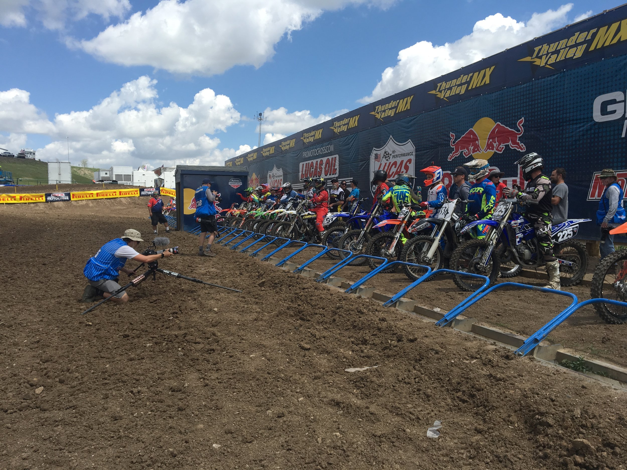 Starting gate for the 125 Dream Race!
