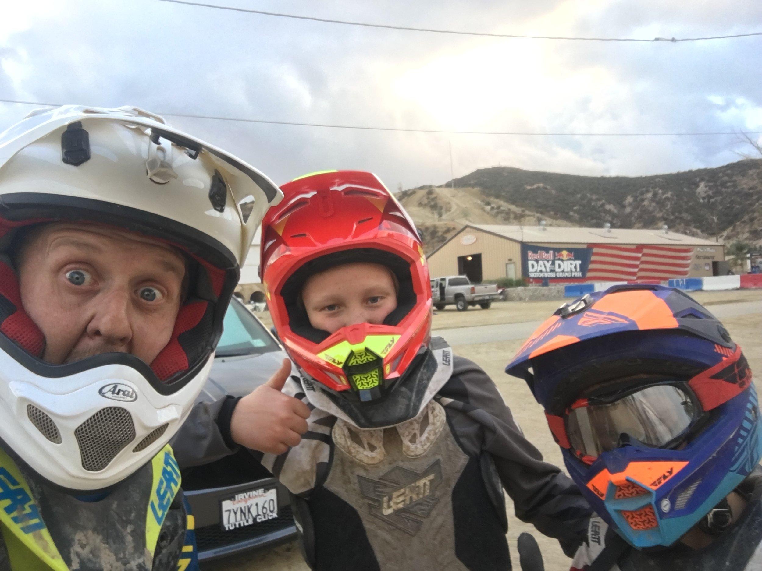 Selfie with helmets