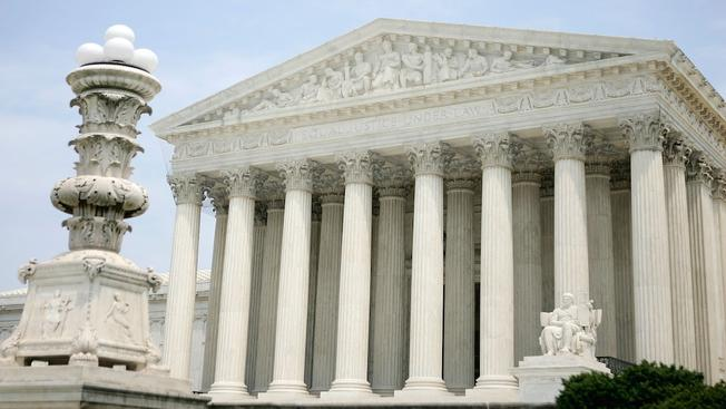 The exterior view of the U.S. Supreme Court.