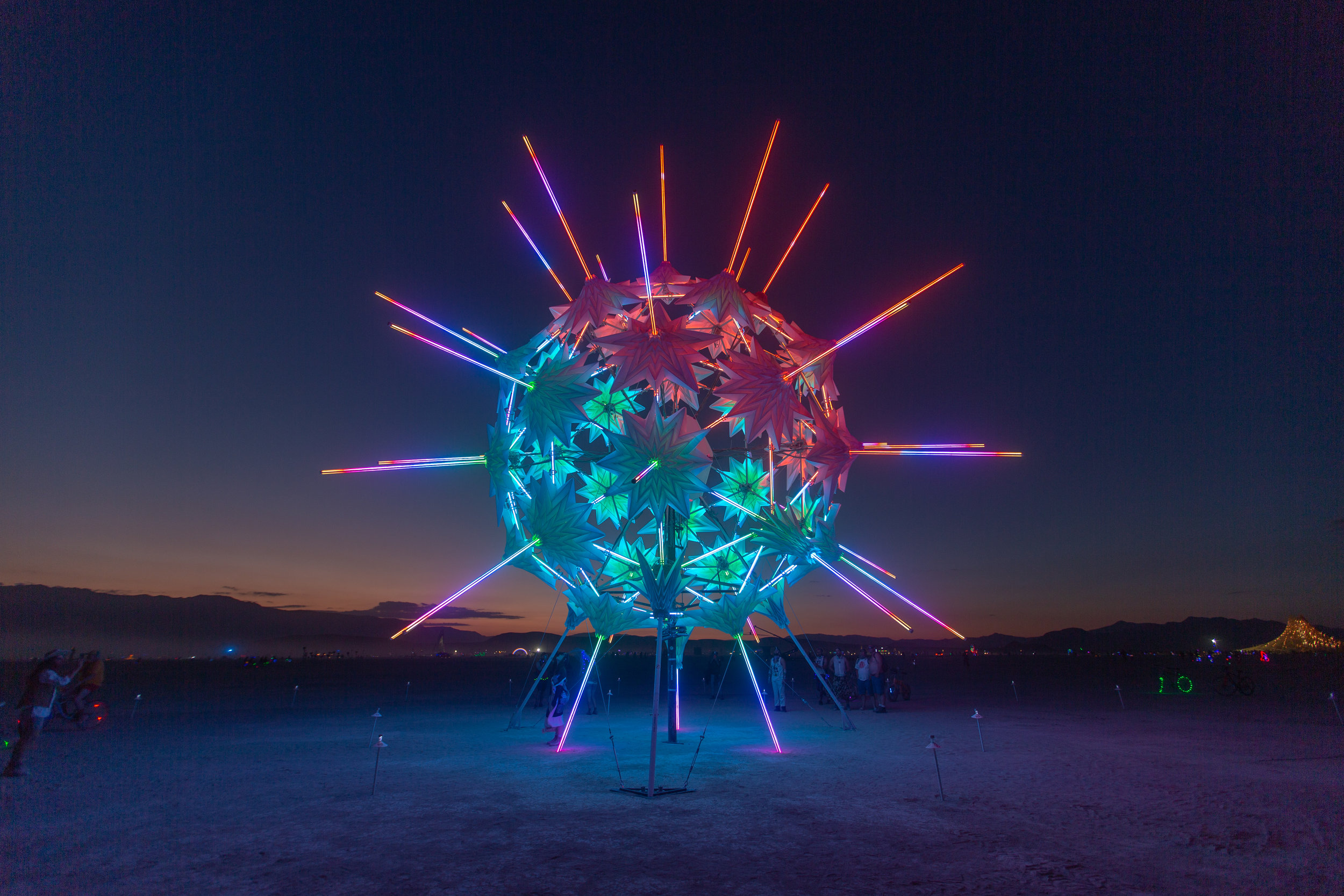 RadiaLumia - I build large-scale kinetic sculptures with a group of other product designers, engineers, and artists, under the name
