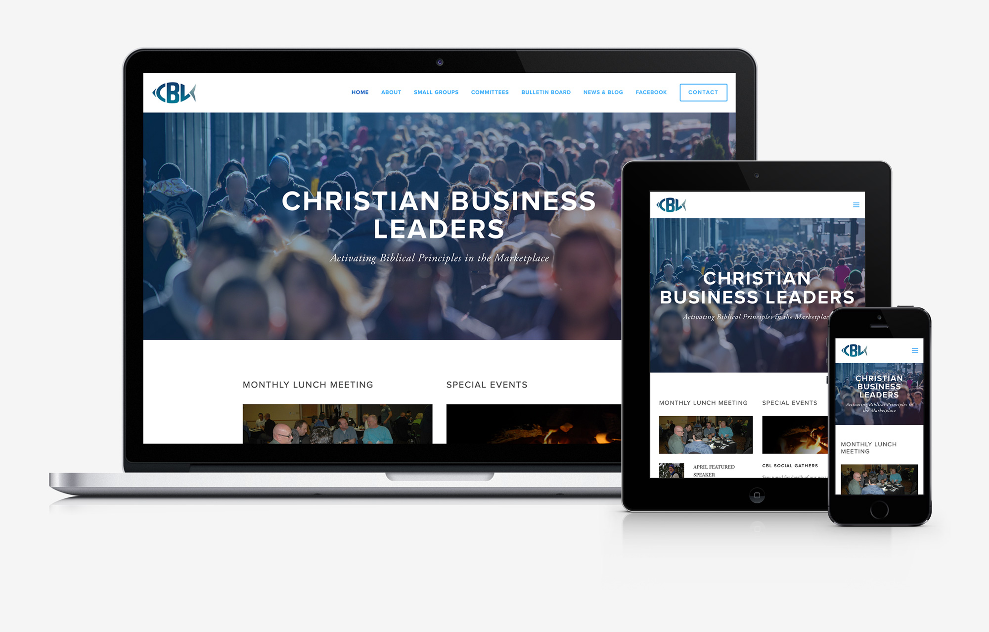Christian Business Leaders responsive website design mockup