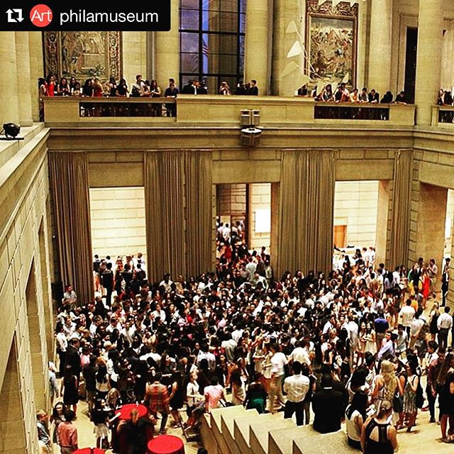 That was a dancefloor... #mycsevent  #Repost @philamuseum ・・・ Welcome to #Philadelphia #UPenn class of 2019. We hope you had fun at @philamuseum last night. #repost Photo by @pennres