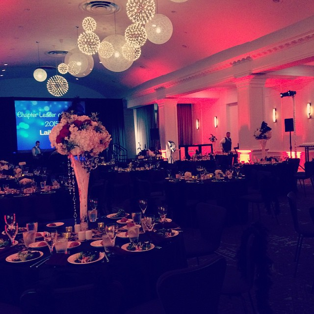 All set up and ready to go for tonight's PAMPI Gala!
