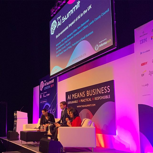 Panel discussion on the 'socio-economic impact of AI in the UK' @techxlr8  @fsb_uk . . . #aisummit #techxlr8 #excelcenter #aisummitlondon #techlondon #ailondon #artificialintelligence #techweek #londontechweek #londontechweek2019 #techweek2019 #aibusiness #businessai #businesstech #businessgrowth #technology #technologynews #futuretechnology #futureofai #datascience #machinelearning #cloud #cloudplatform #googlecloudplatform #london #excellondon #technews #techuk #leedscitycouncil @excellondon @ldntechweek