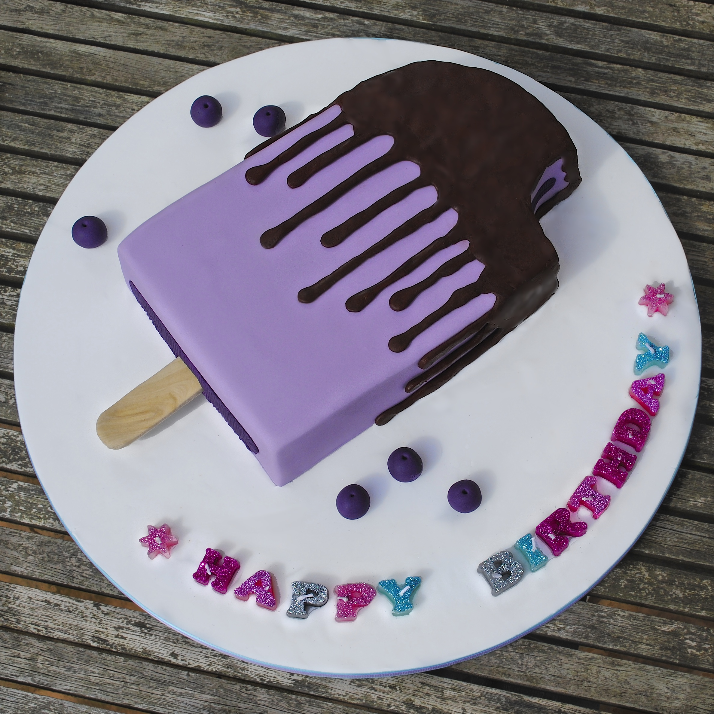 Ice Lolly Birthday Cake