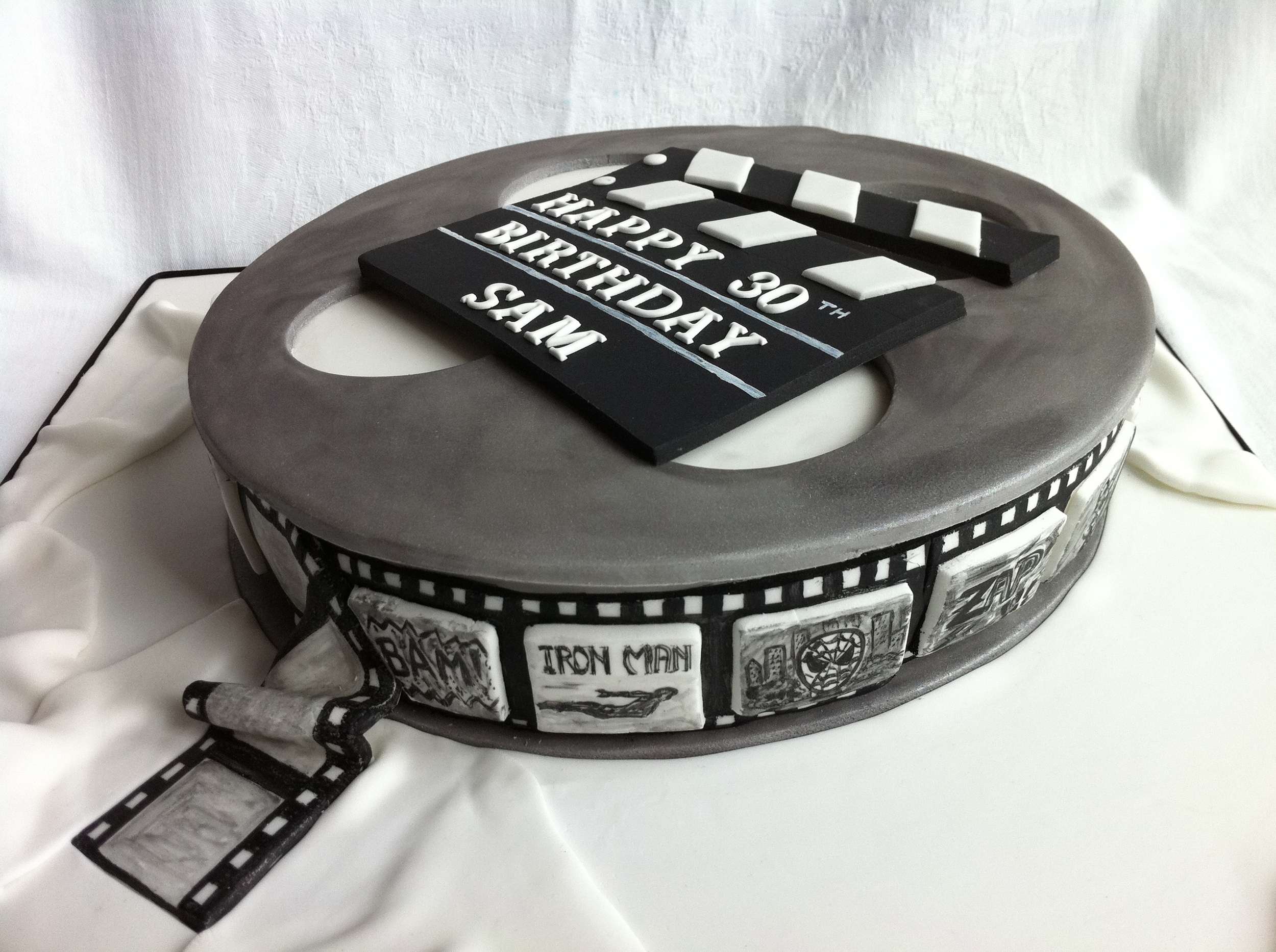 Film Reel Birthday Cake