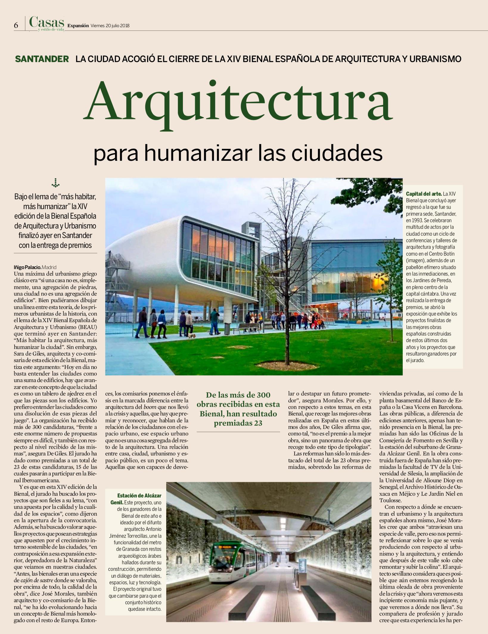 Arquitectura para humanizar las ciudades - EXPANSIÓN
