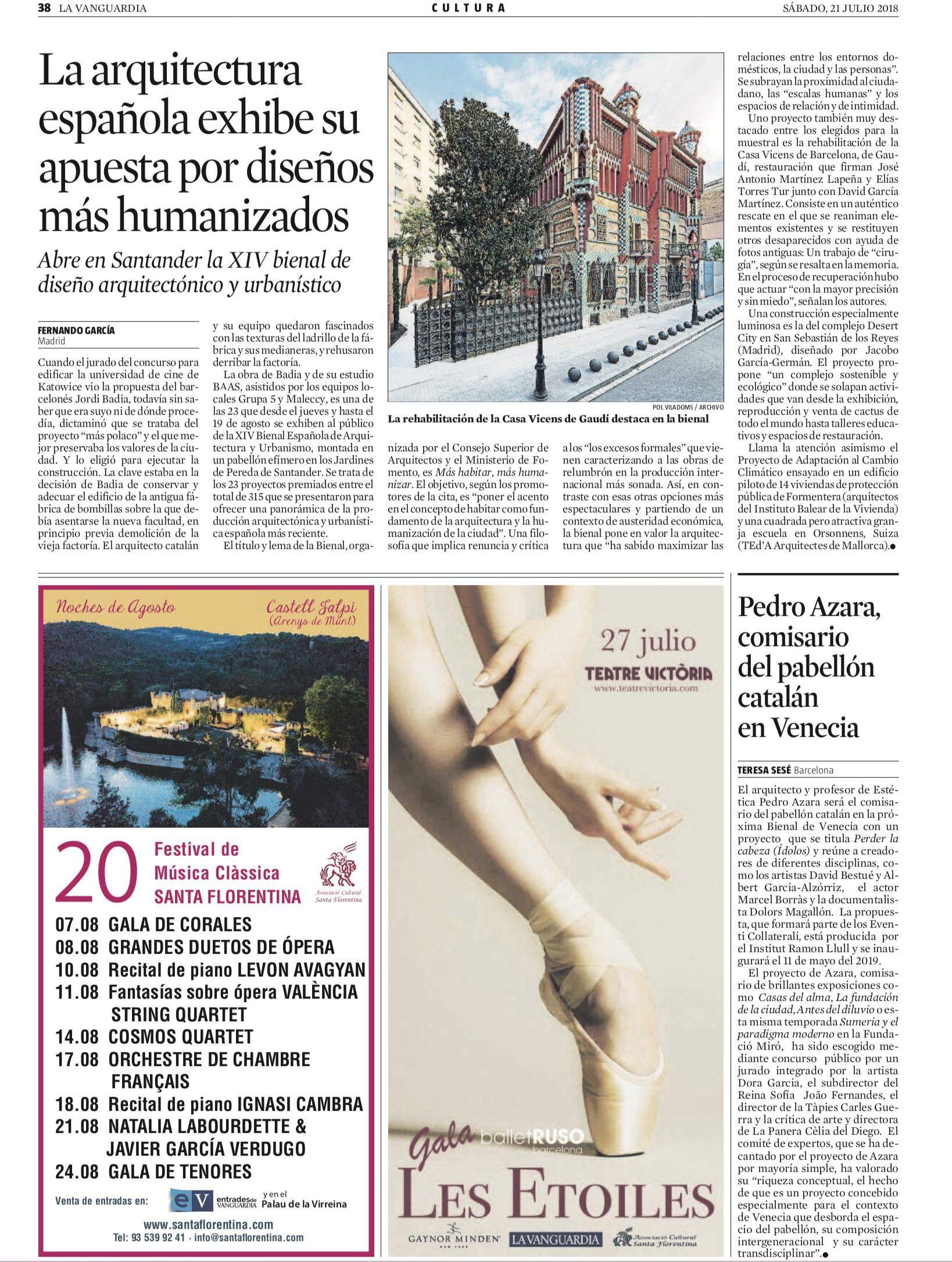 La arquitectura española exhibe su apuesta por diseños más humanizados - LA VANGUARDIA