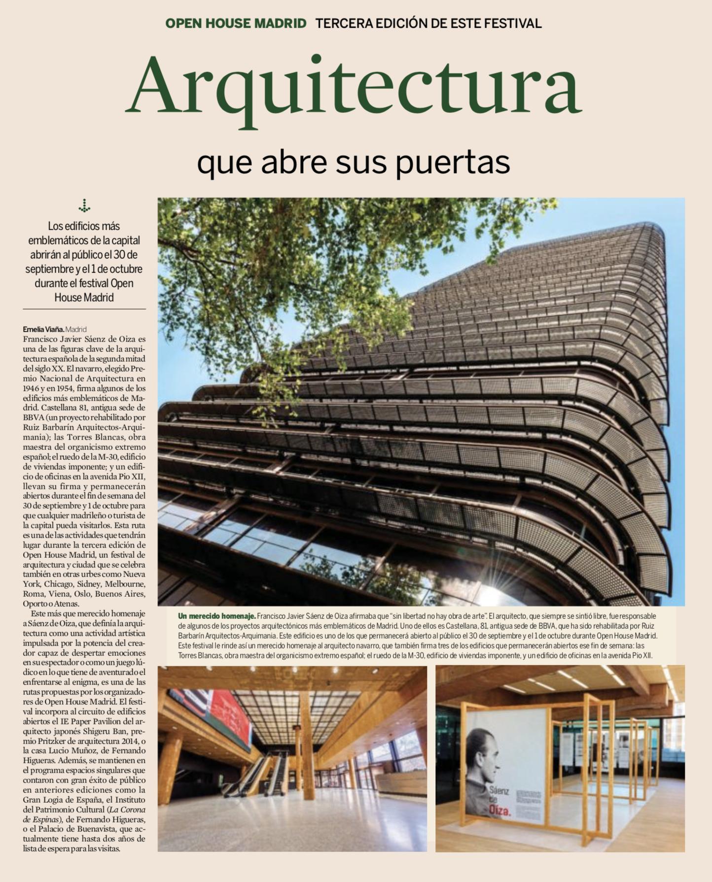 Arquitectura que abre sus puertas - EXPANSIÓN