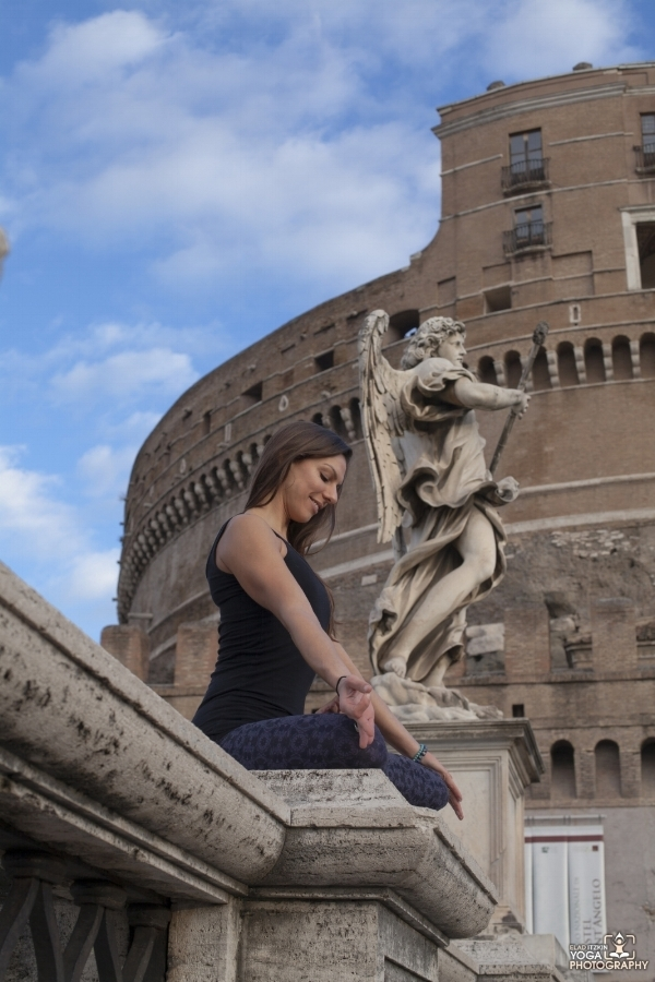 Castel Sant'Angelo, Rome | Photo by Elad Itzkin Yoga Photography | http://yoga.itzkin.com   |   @elad_itzkin_yoga_photography