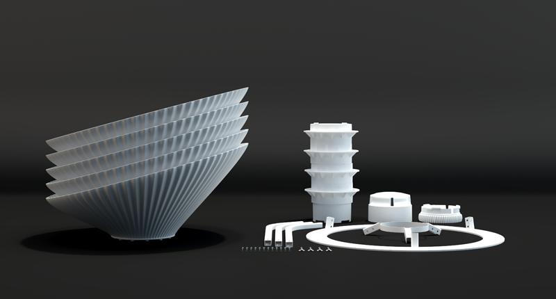 Gaia planter modular design - by Kiba Design