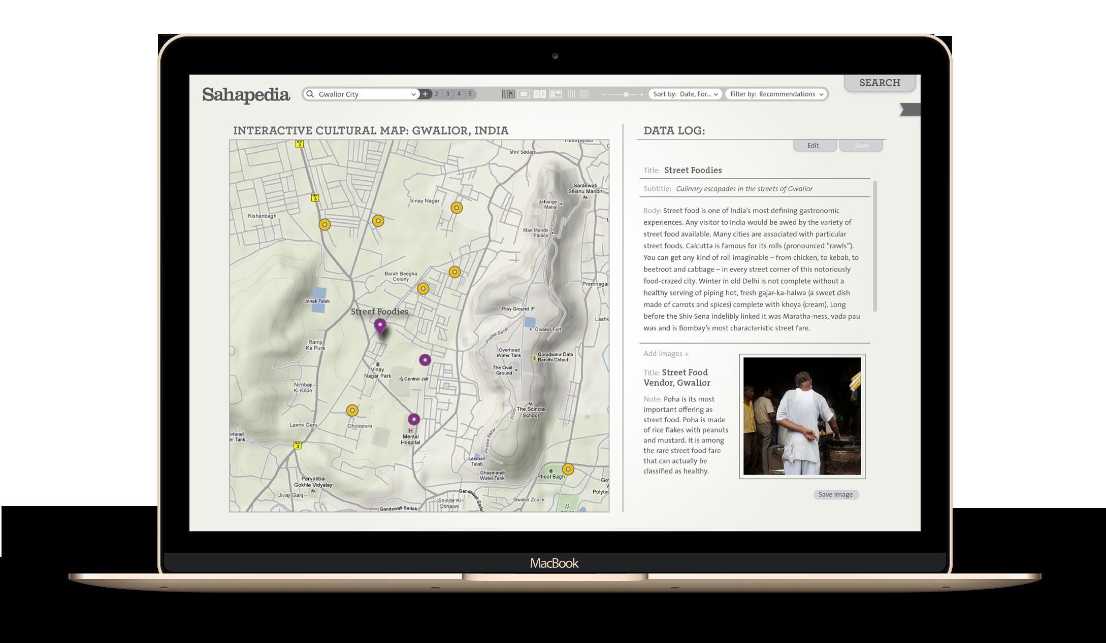Interactive cultural map - Sahapedia - by Kiba Design