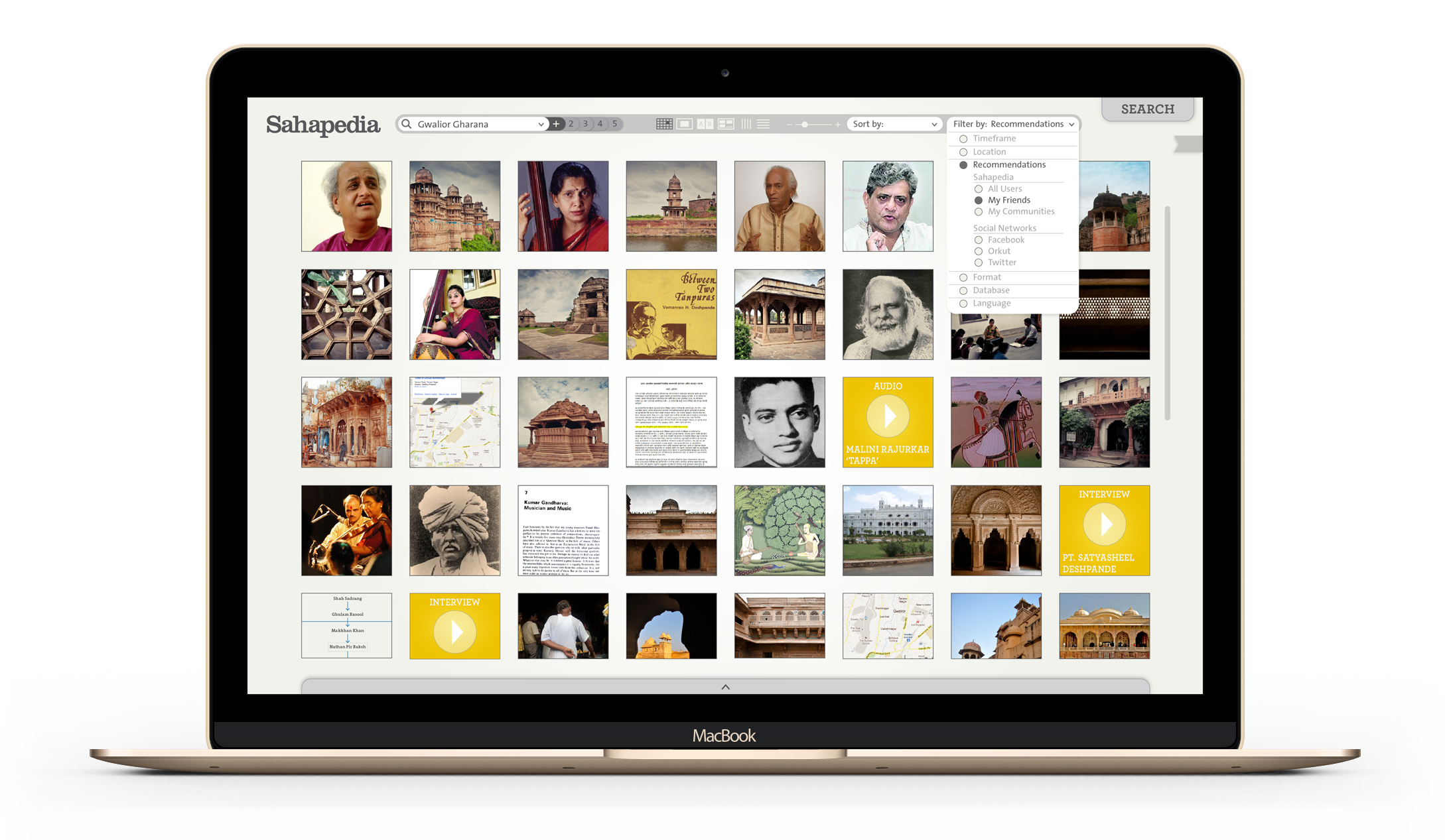 Visual Search Experience - Sahapedia - by Kiba Design