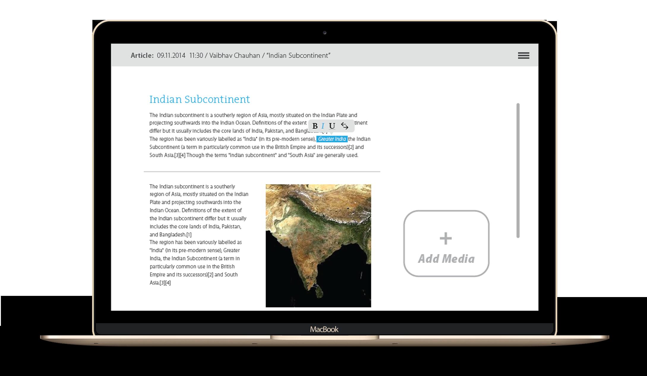 Content Authoring Tool - Sahapedia - by Kiba Design