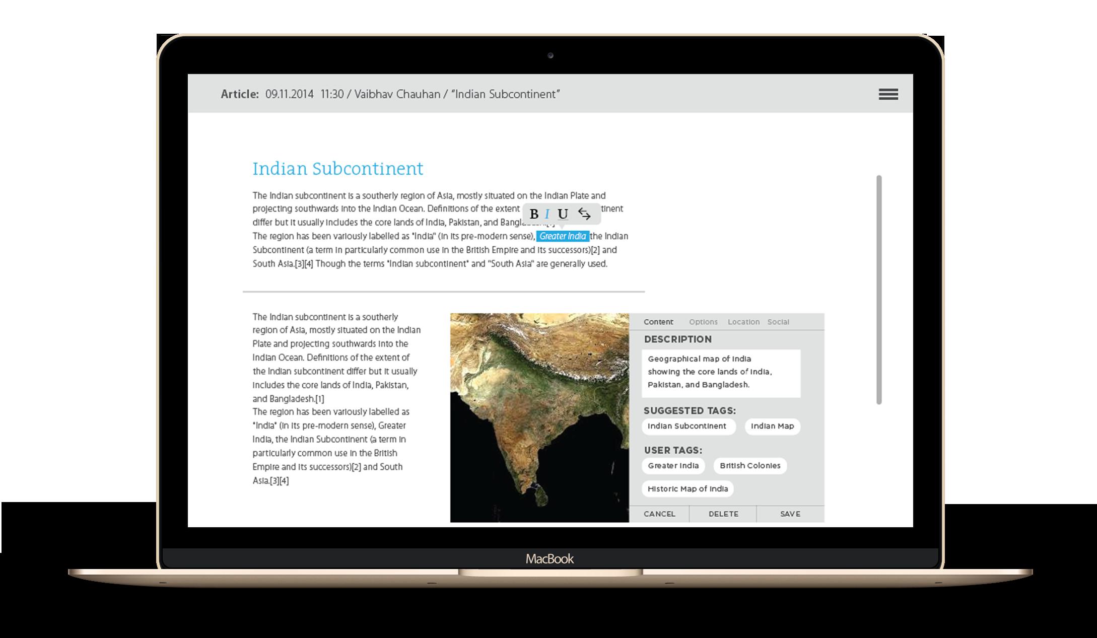 Metadata and tagging - Sahapedia - by Kiba Design