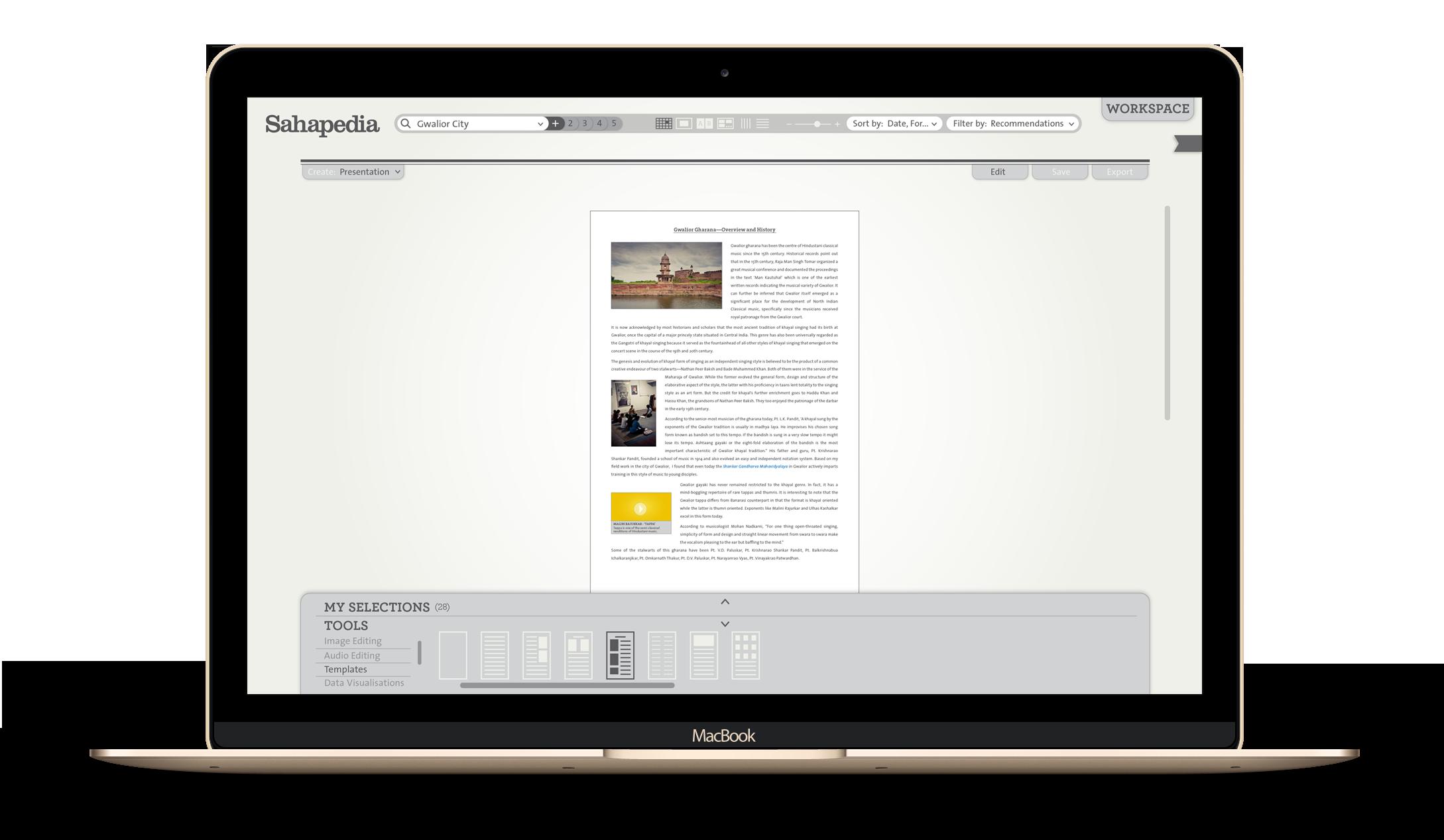 Workspace - Sahapedia - by Kiba Design
