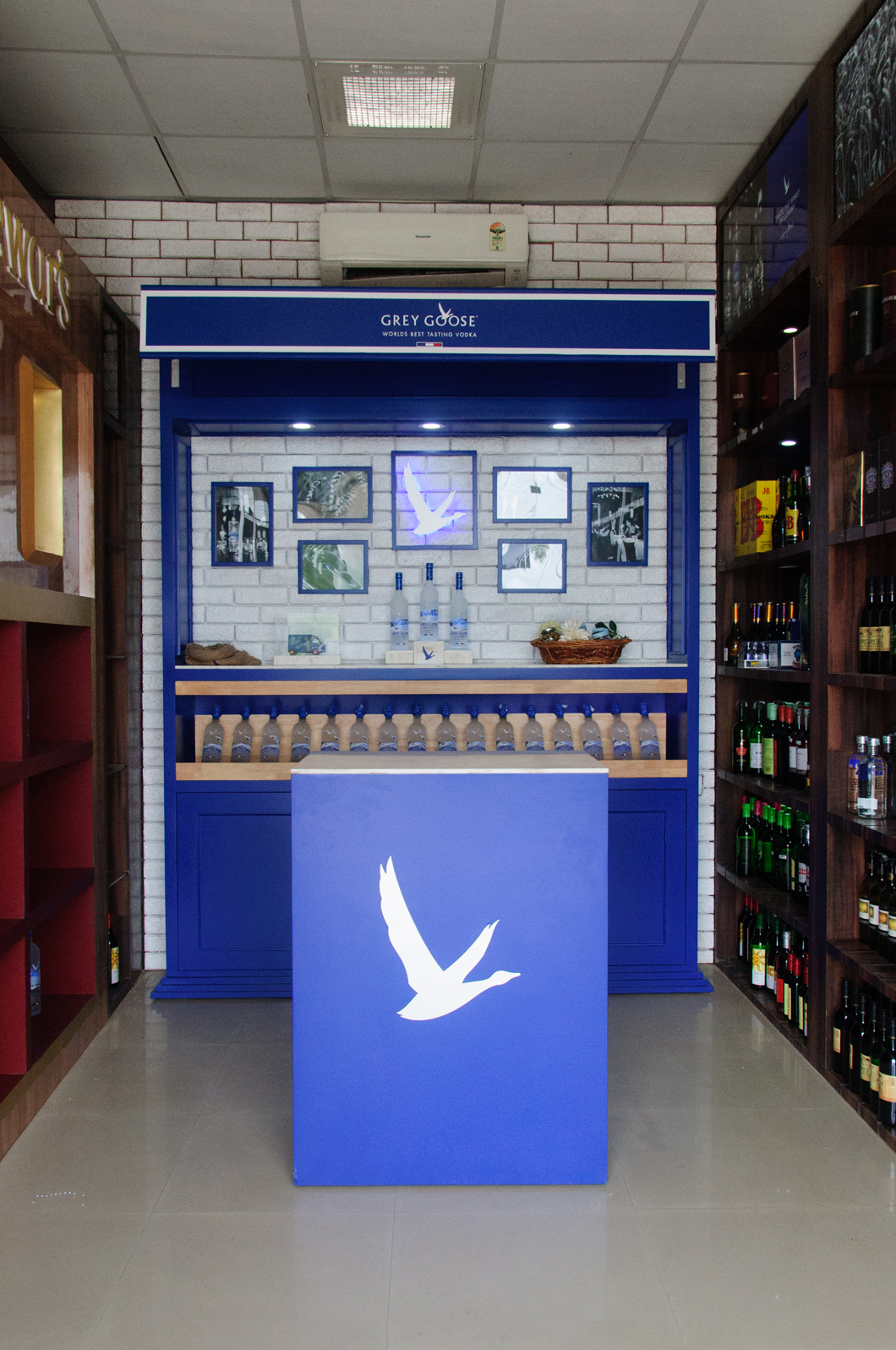 Grey Goose luxury Brand Showcase for Bacardi - by Kiba Design - installed