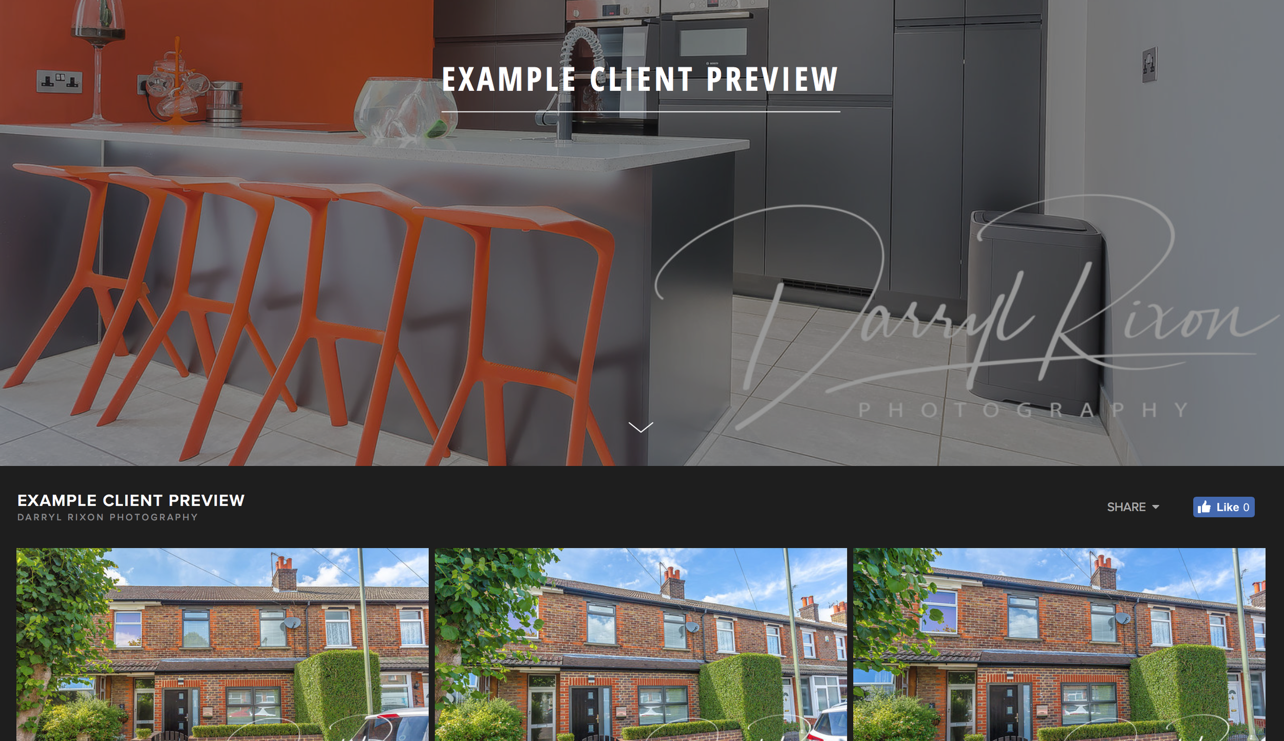 Click on the image to preview an example of how your client will see the images