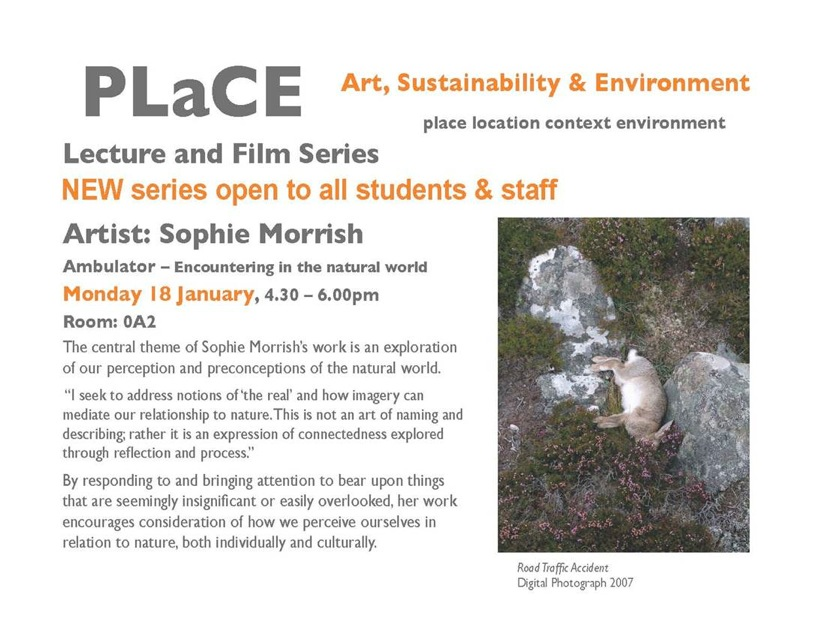 Lecture & undergraduate workshop for PLaCE at the University of the West of England, 2010
