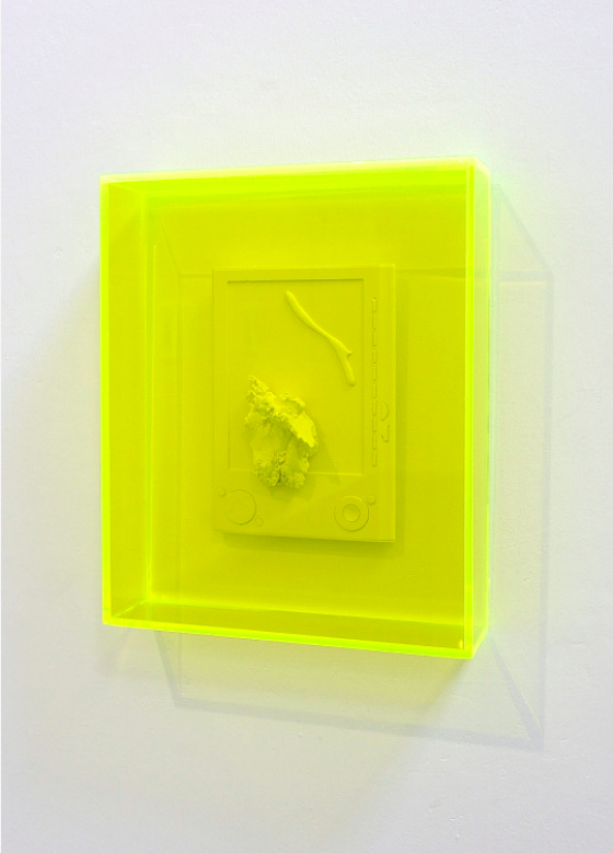Detail,  'untitled fragments in acid green',  Naill Macdonald