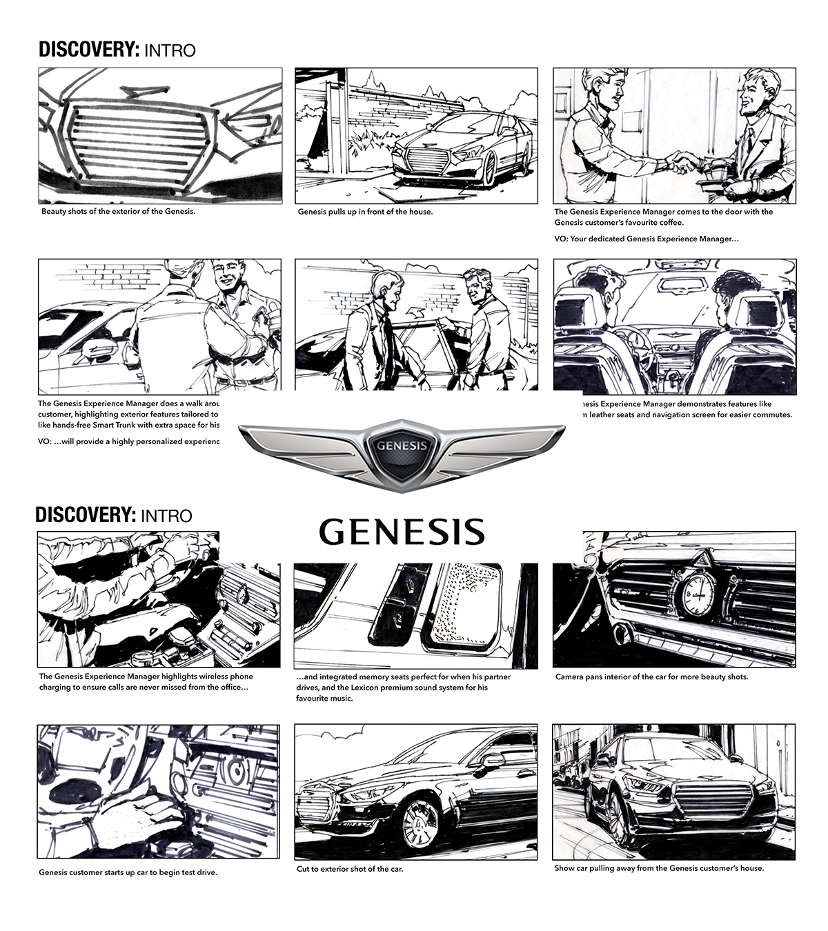 It's about time. - This was a series of videos for luxury car maker, Genesis. The campaign's tagline was