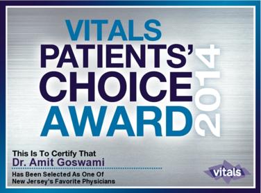 Amit Goswami, MD | Patients' Choice Award 2014