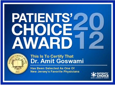 Amit Goswami, MD | Patients' Choice Award 2012