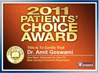 Amit Goswami, MD | Patients' Choice Award 2011