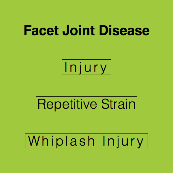 Causes of Facet Joint Disease