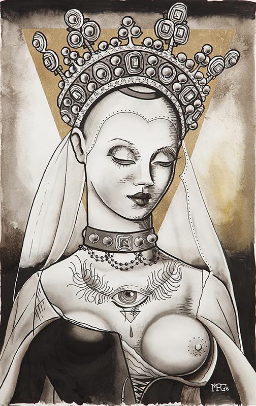 Portrait of a goddess, 2016 <br> SOLD
