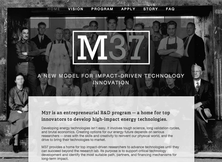 The original M37 recruitment web page.