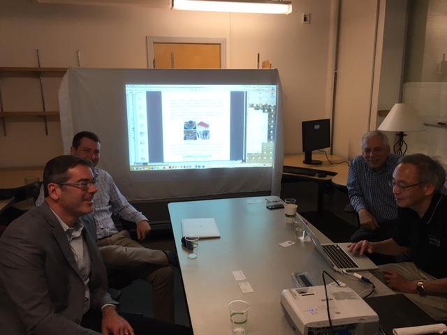 Clockwise from left: UC Berkeley Professor Jeff Long, Tom McDonald, Dan Miller (Roda Group), and Nobel Laureate Steven Chu.
